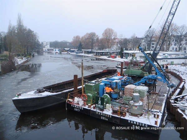 Kanalarbeiten im Winter